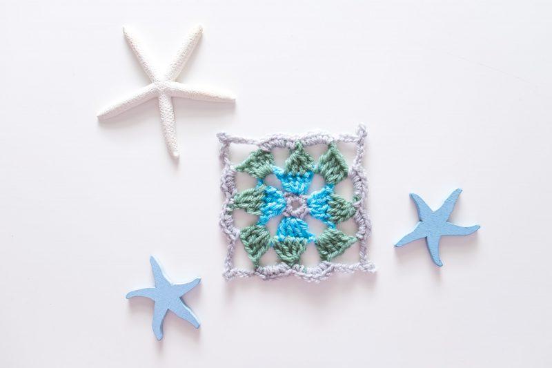 Motivo de crochet cuadrado. Granny Square