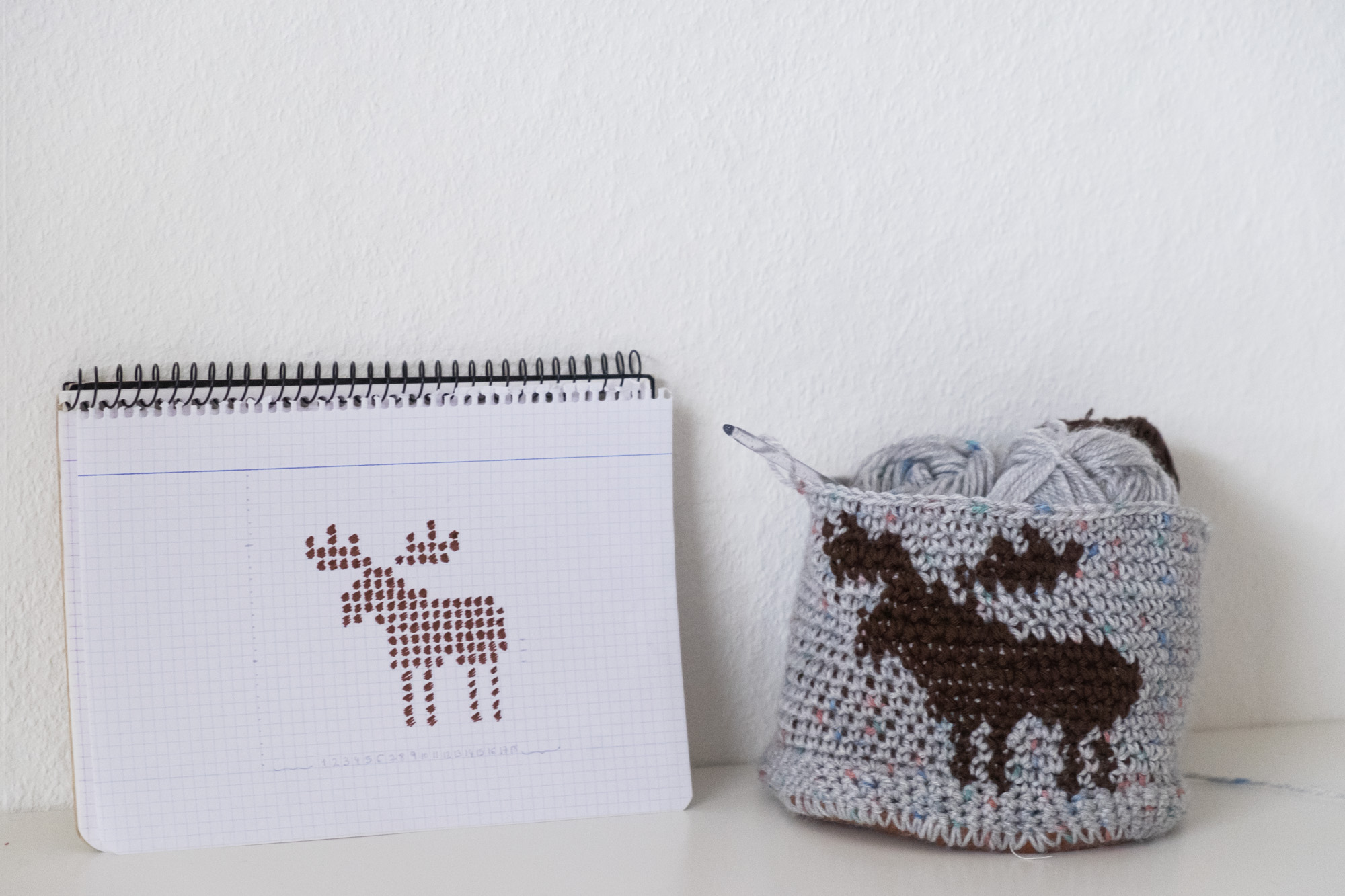 Moose make with Tapestry Crochet.