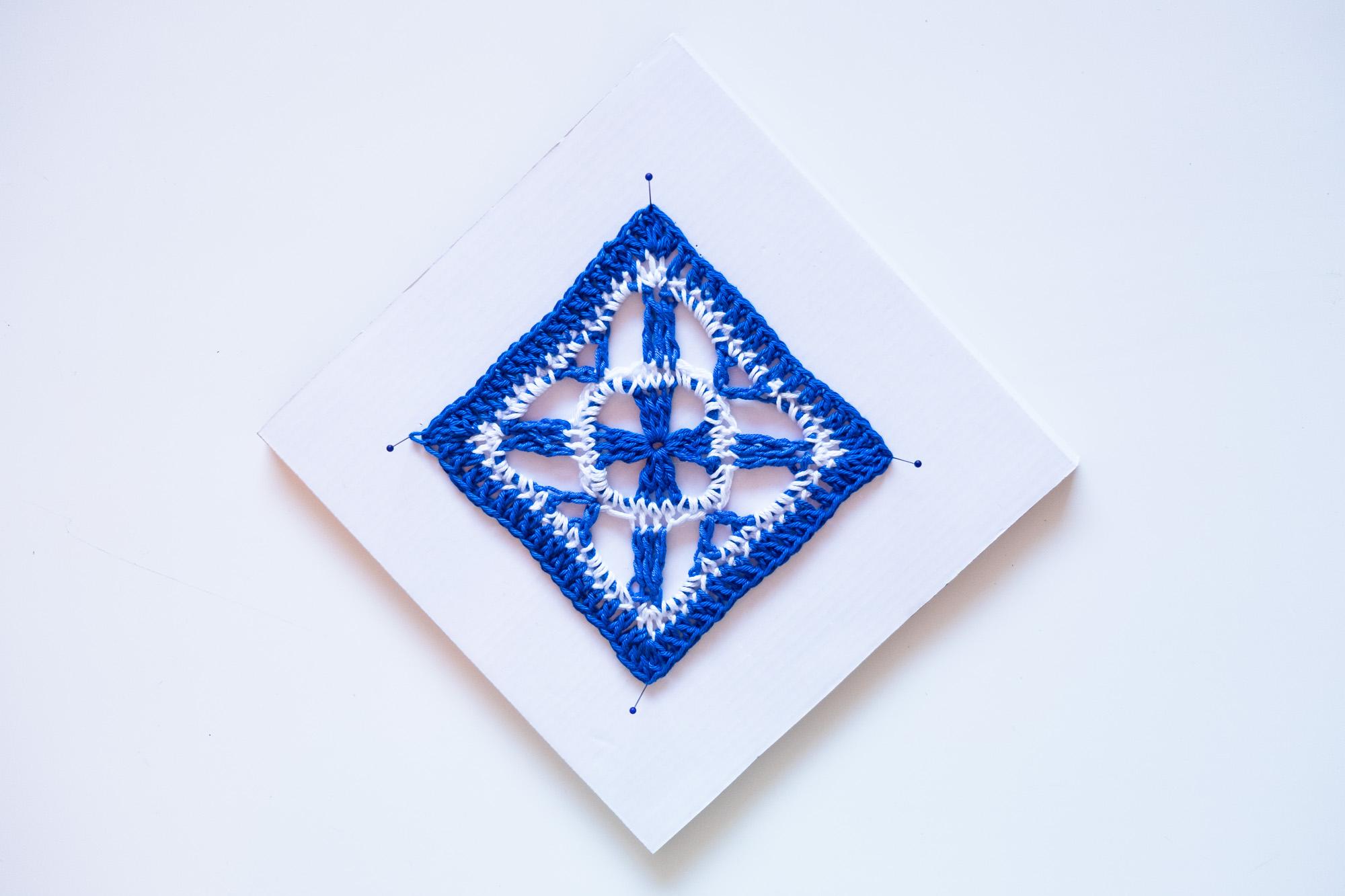 Motivo De Crochet o ganchillo hecho a mano