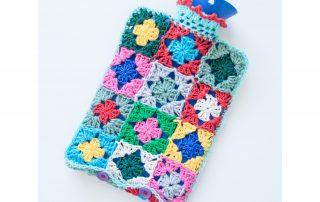 Hot water bottle crochet cover