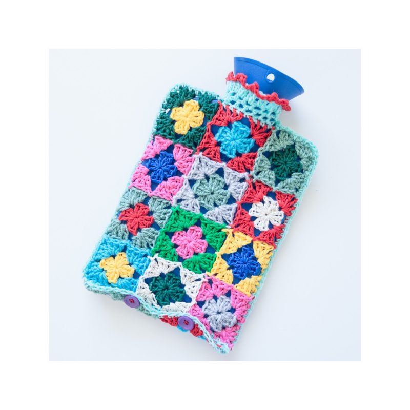 Hot water bottle crochet cover