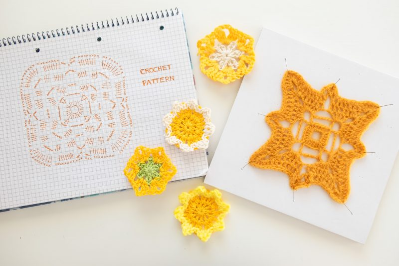 Crochet Pattern Mustard Yellow