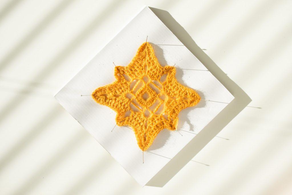 Granny Squate Crochet Pattern Mustard Yellow