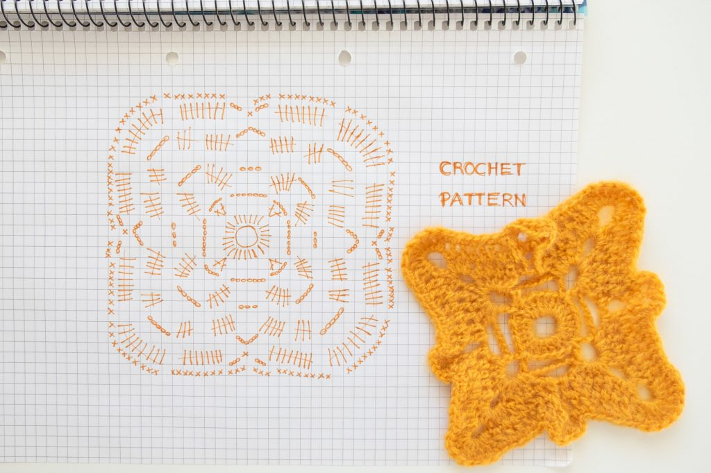Crochet Pattern Mustard Yellow