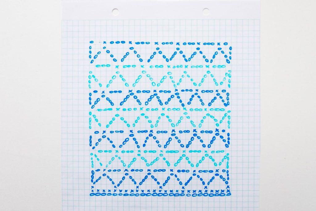 Blue Geometric Granny Square Crochet Ganchillo Blue