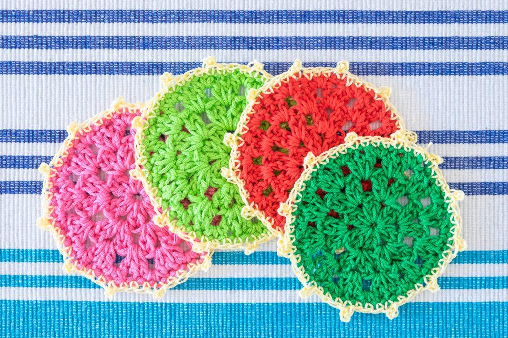 Colourfull Crochet coasters